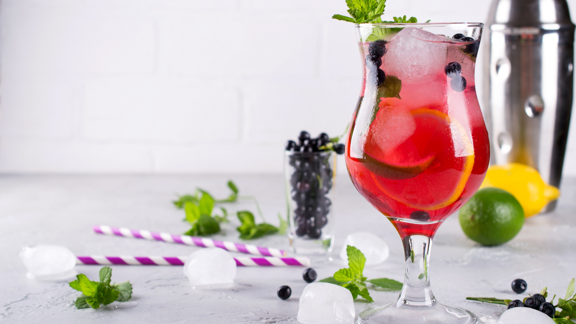 Wild Blueberry Sangria