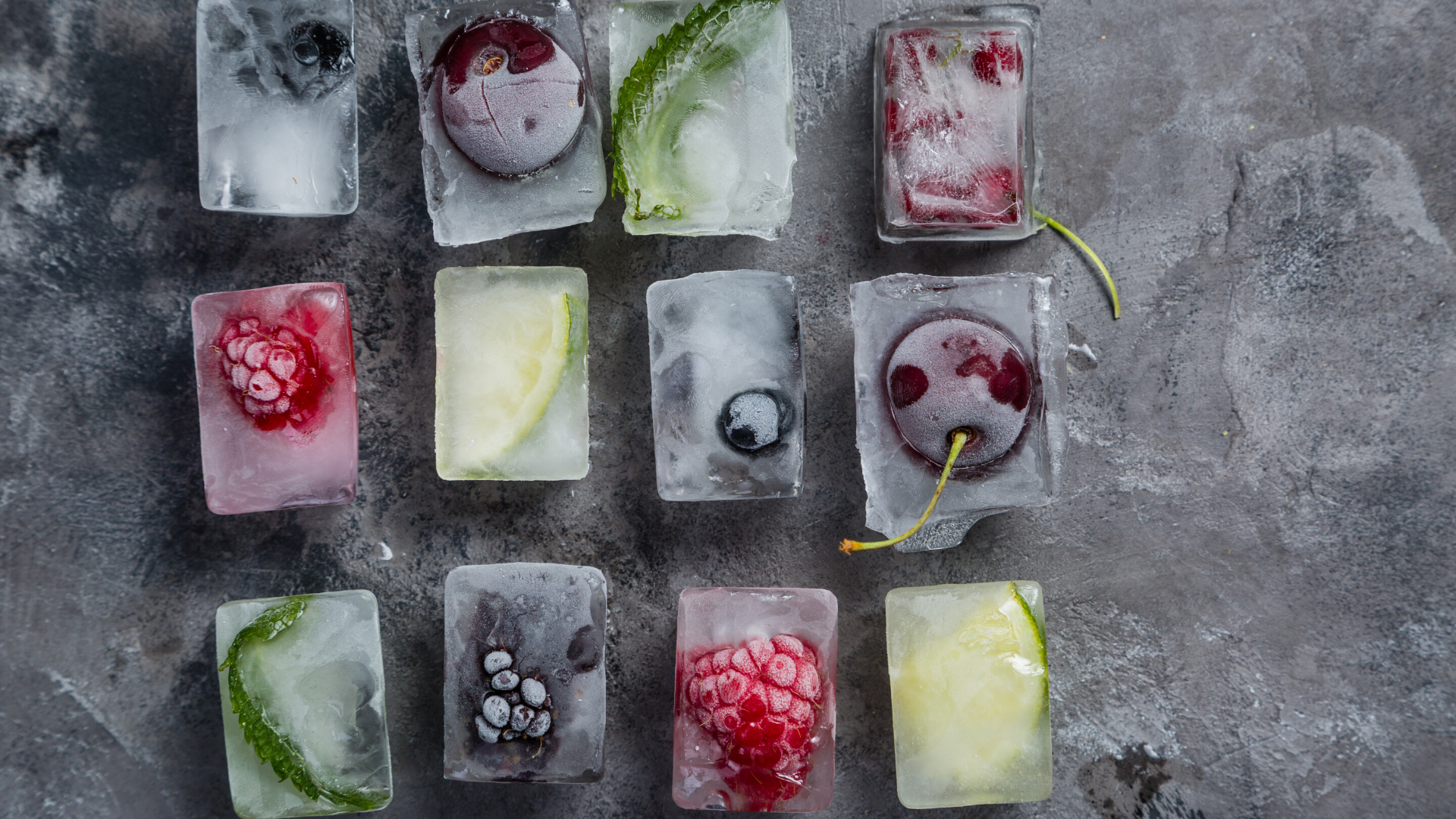 Wild Blueberry Ice Cubes